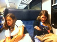 Everyone looked a little worse for wear on the 3hour train ride home at 1am. Long day!
