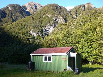 Huxley Forks Hut