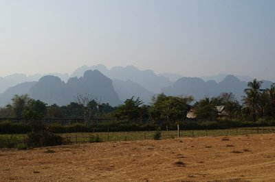 The limestone mountains of Vang Vieng