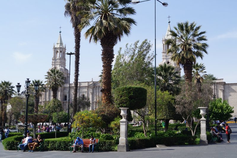 Arequipa's main square with the cathedral