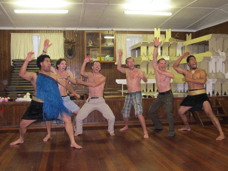 Learning to do the Haka with some Maoris... I&#39;m definitely missing a few tatoos... <img class='img' src='http://www.travellerspoint.com/img/emoticons/icon_wink.gif' width='15' height='15' alt=';)' title='' />