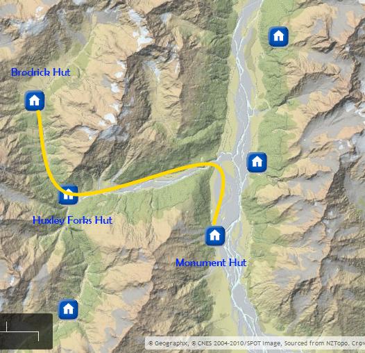Map Huxley Valley