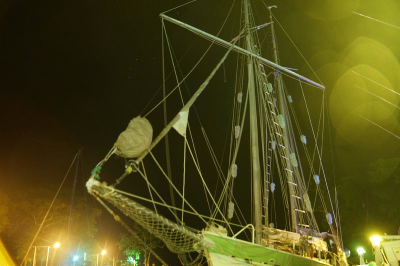 Our sailing boat by night