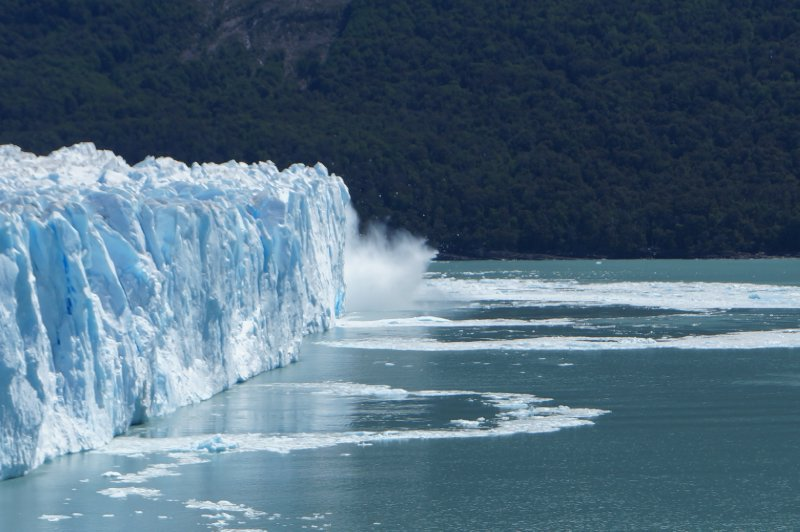 A bit far away, but I managed that day to capture the ice falling from the glacier