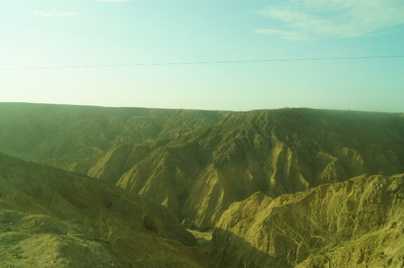View of a Peruvian canyon from my bus window