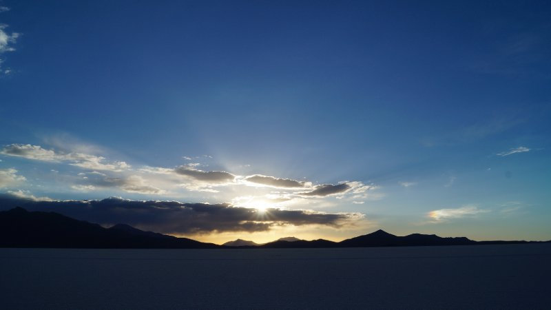 Sunset on the Salar