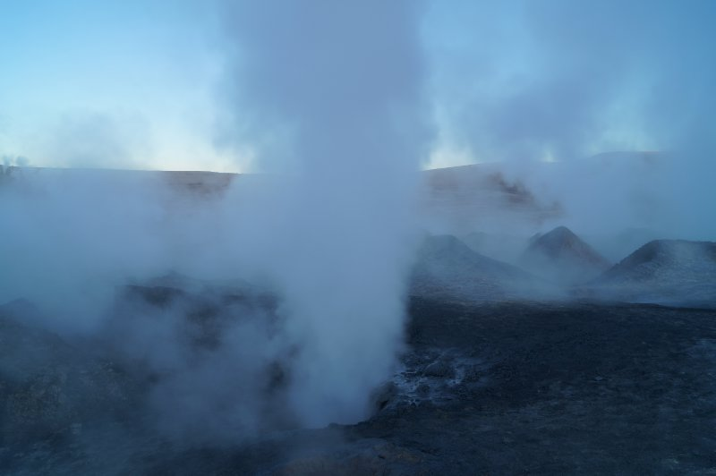 Geysers at almost 5000 meters high