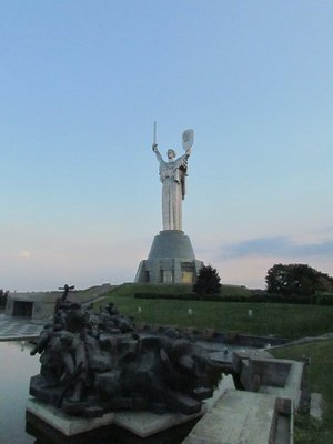 The giant statue over Kiev