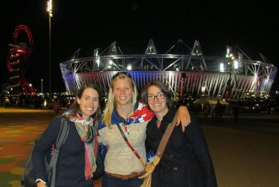 With Suz and Ali at the Olympics