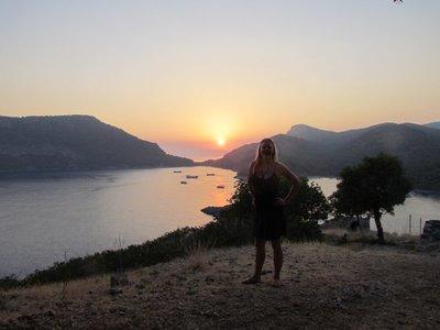 The sunset on St Nicholas's island