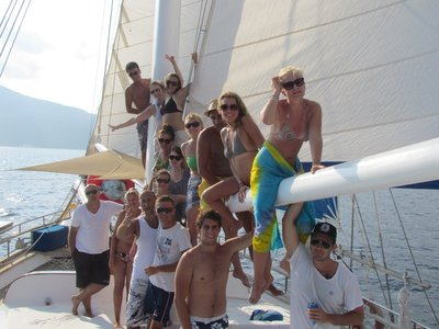 The group while sailing