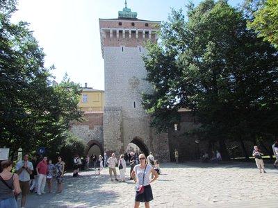 Castle walls in Krakow