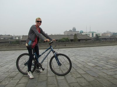 riding the Xian walls
