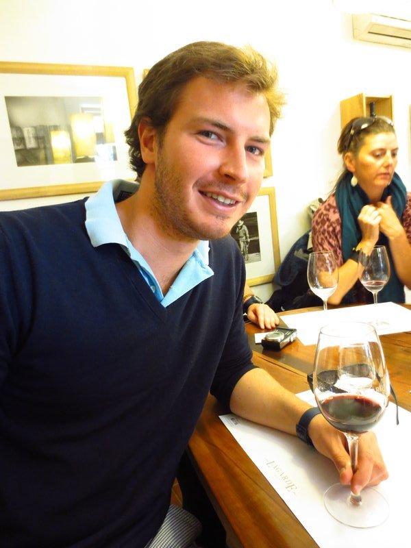 Christian enjoying the wine at Lagarde