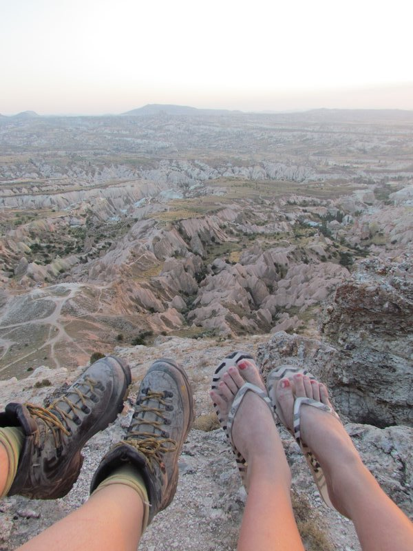 Our feet after our trek