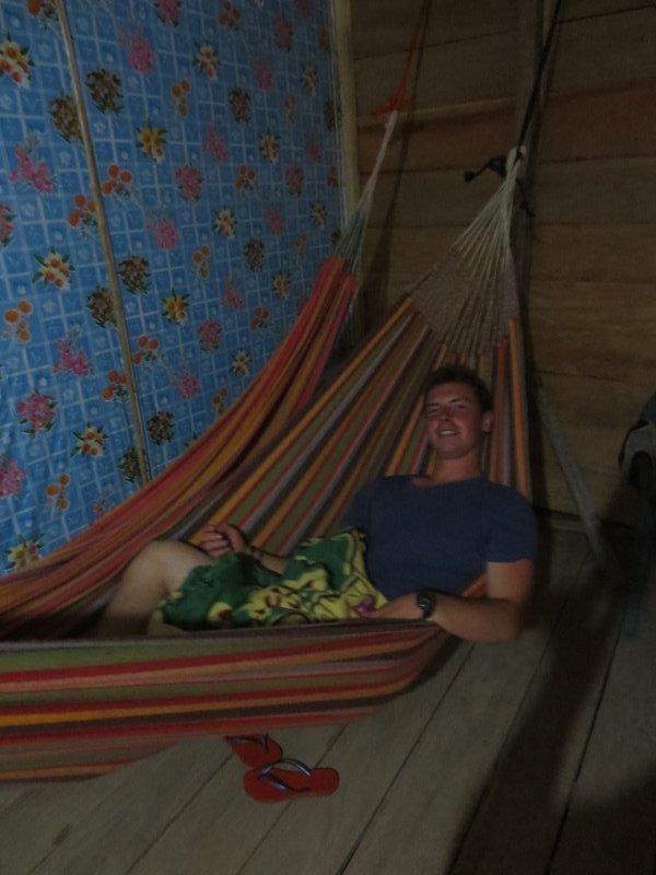 Spending the night in a hammock