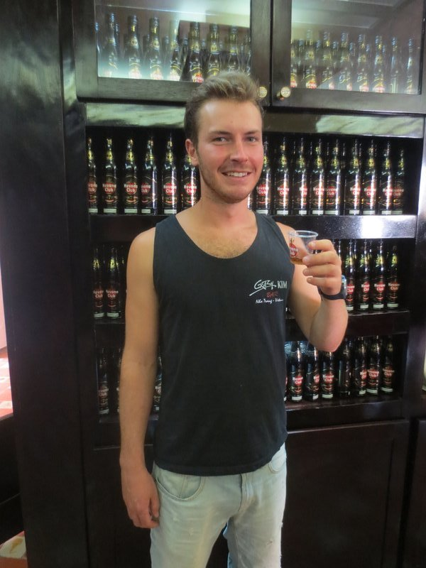 A free shot of rum