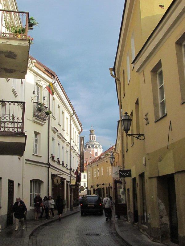 The streets of Vilnius