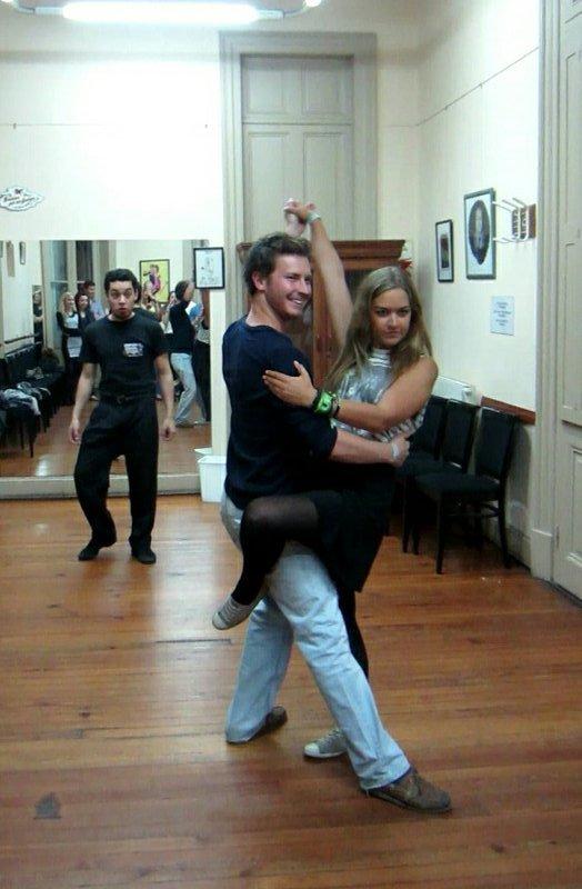 Christian doing the tango