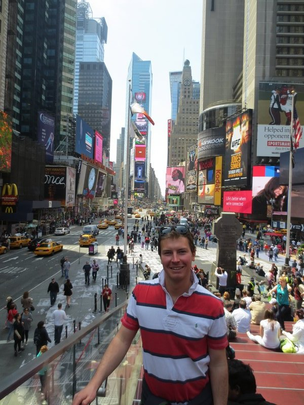 Christian at Times Square