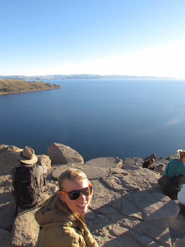 Looking out over Lake Titicaca