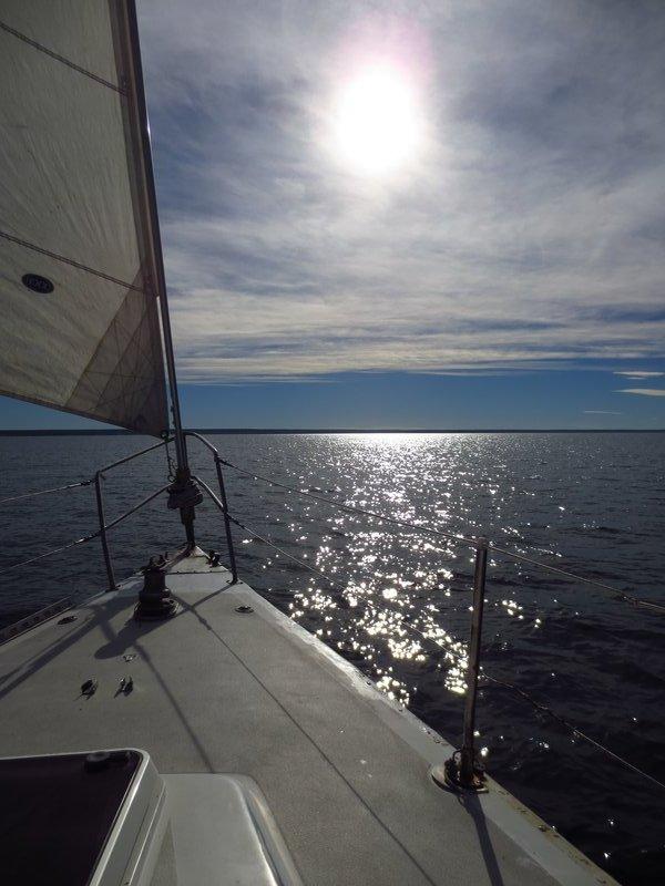 drifting out towards the horizon