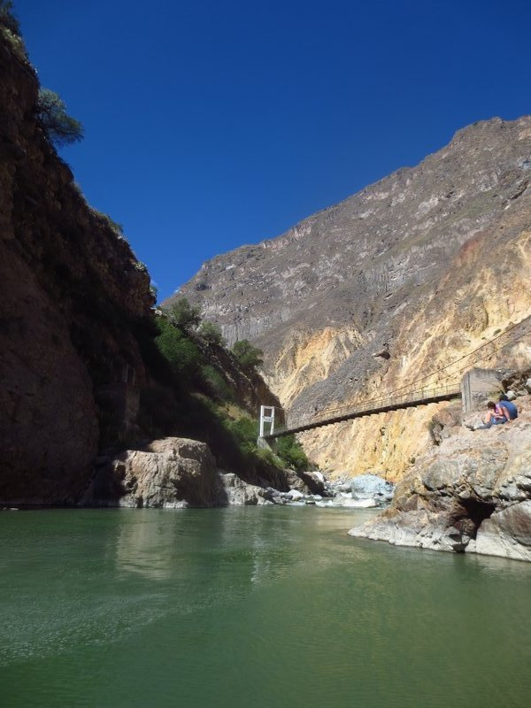 At the bottom of the canyon