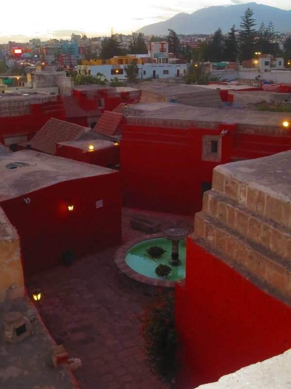 Red walls of the convent