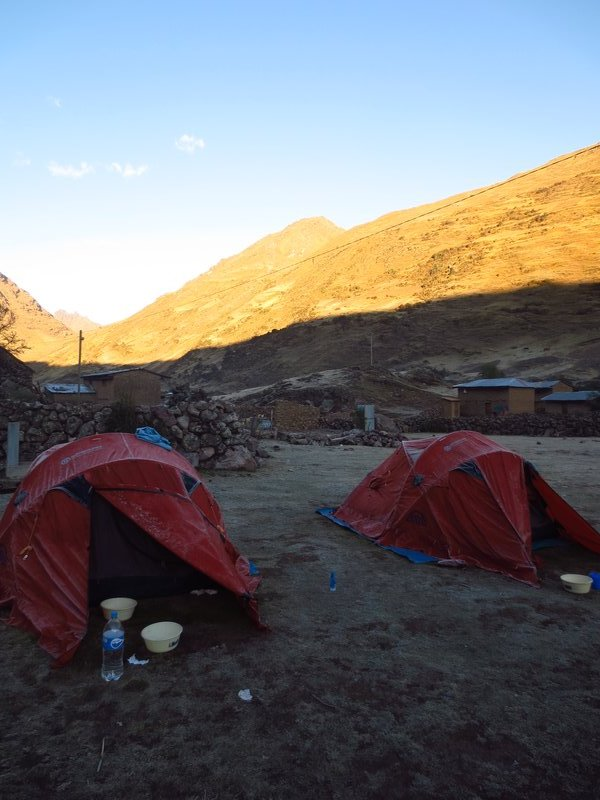 Tents in morning of day 2