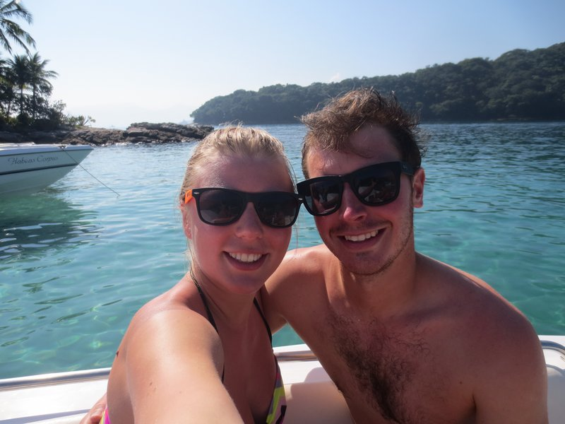 Us at the Lagoa Azul