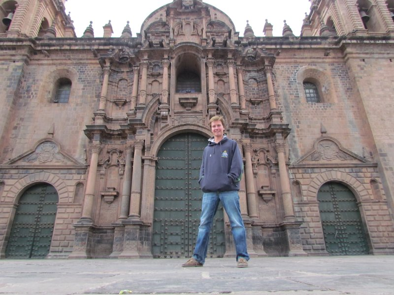 Christian at Cusco cathedral