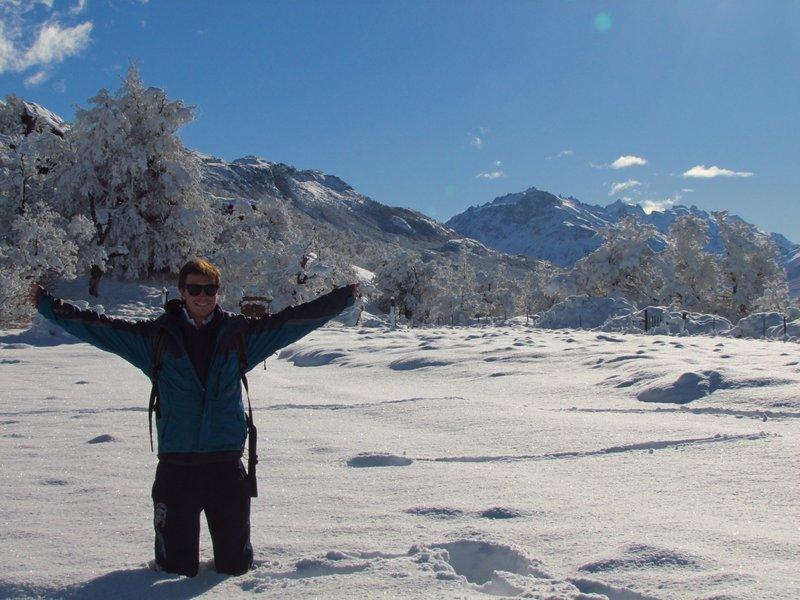 Snow in el chalten
