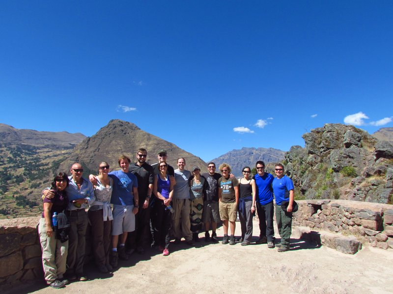 the inca group at pisac