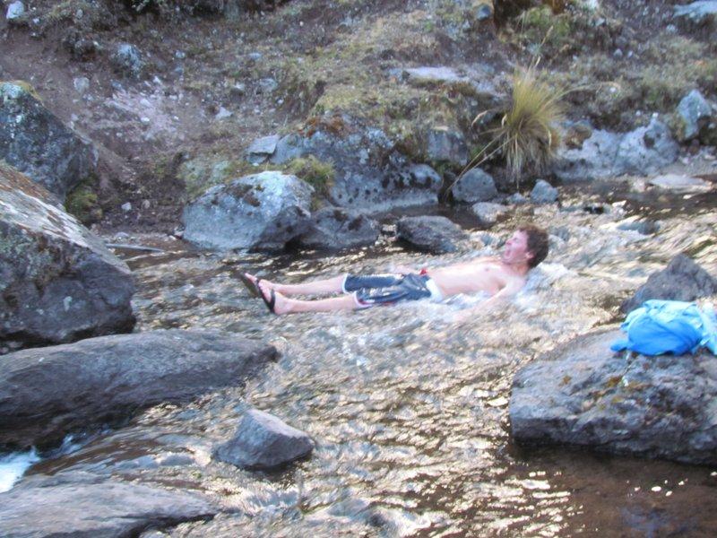 Christians ice river bath