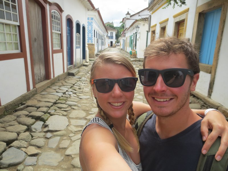 Walking around the streets of Paraty