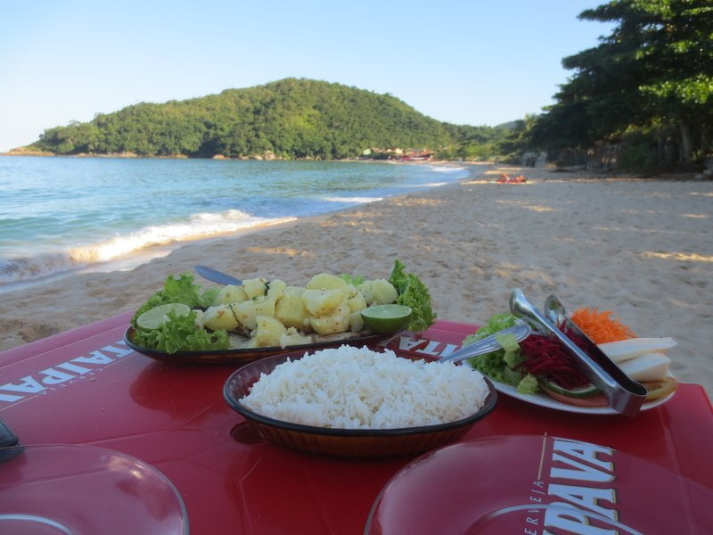 Our lovely seafood lunch on the beach