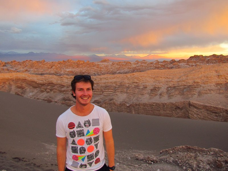 Christian over the colourful andes