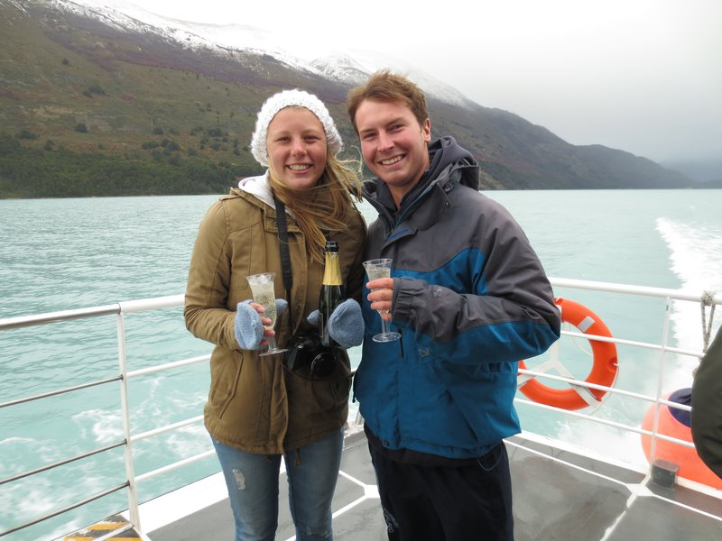 Champagne with glaciar ice