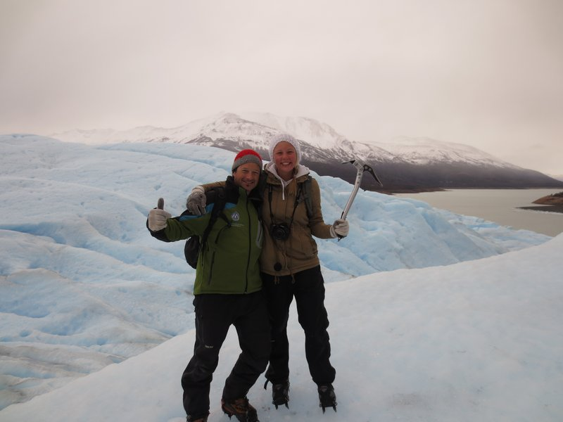 with our guide on the ice