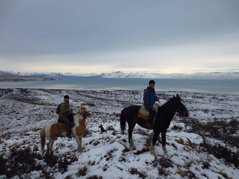 Horse riding at Lago Argentina