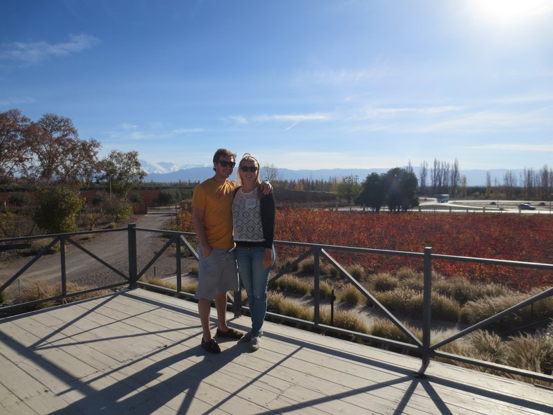 At our first winery