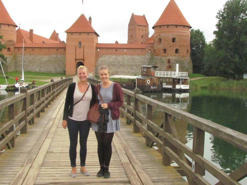 Ruby and I at Trakai castle