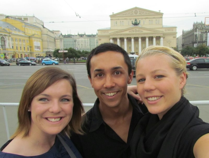 Outside the bolshoi on our way to the ballet