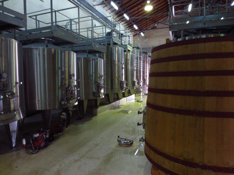 Fermentation tanks at Lagarde