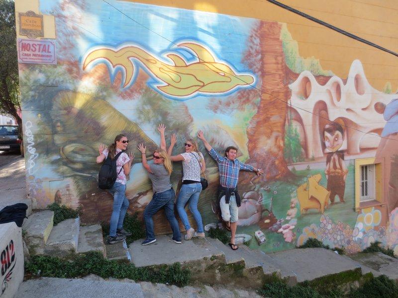Graffiti poses