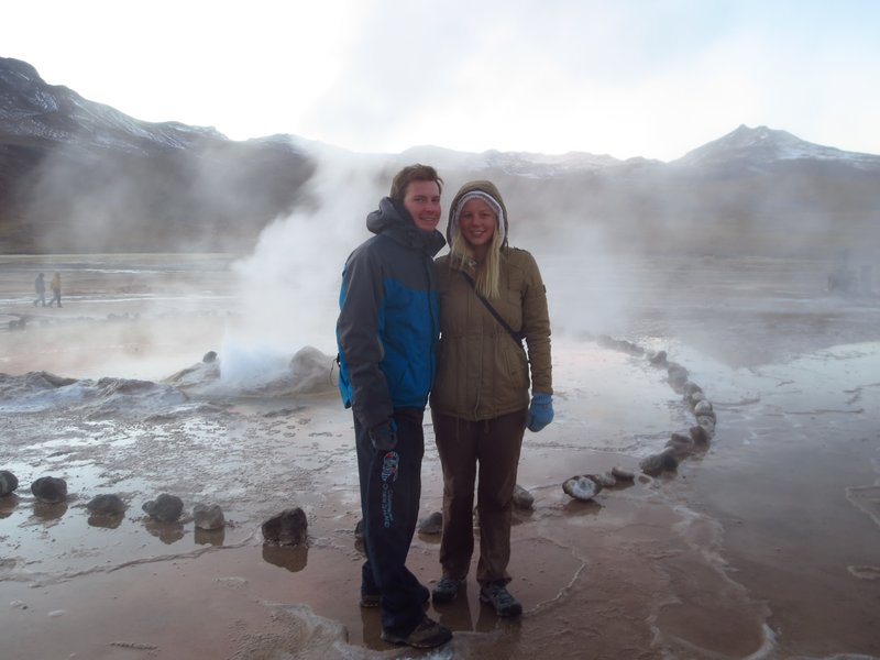 At the geysers