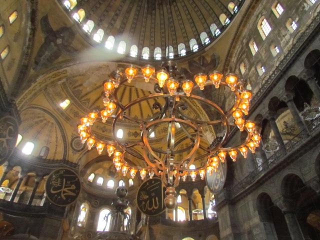 Hagia Sophia lights