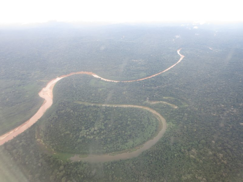 ox box lake on the flight over the jungle