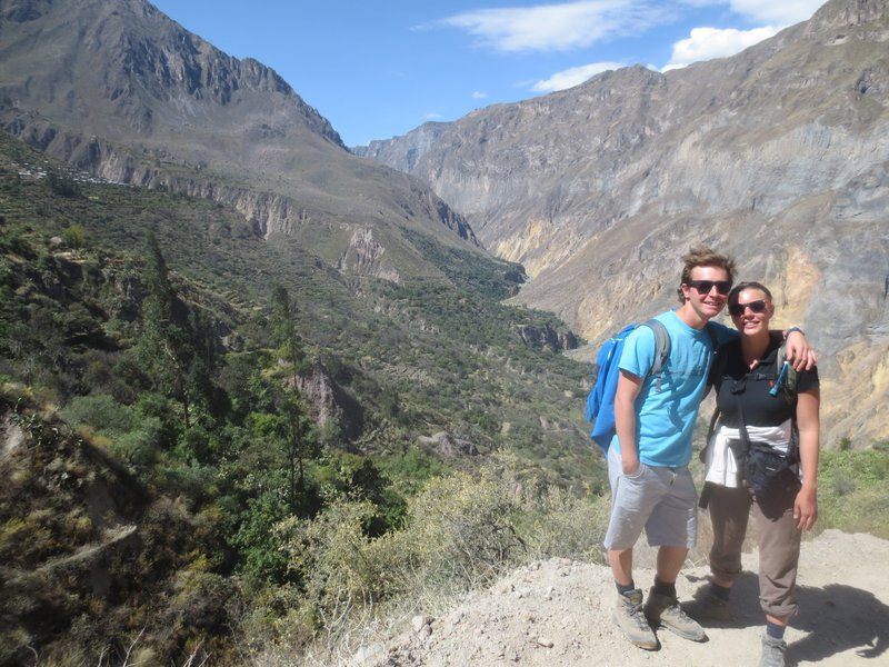 walking along the canyon on day 2