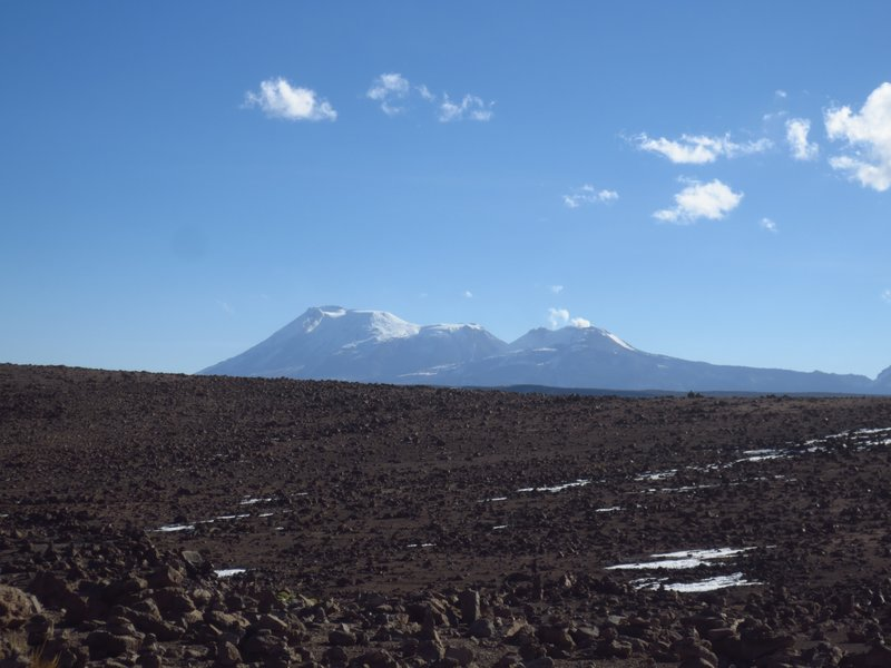 Volcanoes including Ampopata